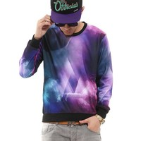 Pizoff Unisex Galaxy Graffiti Stereoscopic 3d Universe Sweater T Shirts