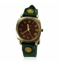 Vintage Brown Leather Strap Watch