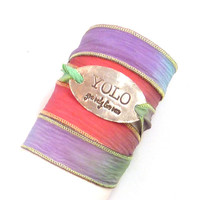 Silk Wrap Bracelet with YOLO