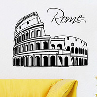 Italy Wall Decals Colosseum Rome Architecture Vinyl Decal Sticker Art Mural Beauty Salon Bedroom Interior Design Nursery Decor KT134 - Edit Listing - Etsy