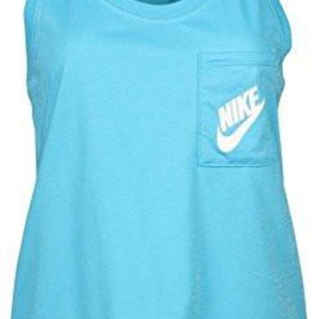 Nike Womens' Signal Racerback Tank Top Light Blue (M)