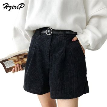 Hzirip 2018 New Hot Fashion Spring Women High Waist OL Bootcut Short Pants Plus Autumn WinterLarge Big Size Casual Loose Shorts