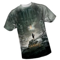 Big Poster -- The Hobbit All-Over Front Print Sports Fabric T-Shirt, Medium
