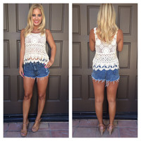 Take Me To The Beach Crochet Top