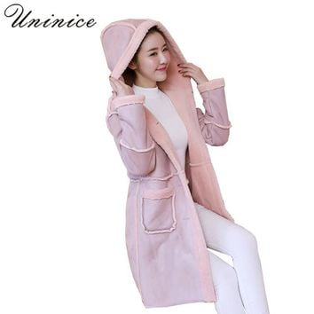 long winter coat women thicken cashmere wool elegant hooded jacket parka plus size 2017 casual autumn warm Outwear woman Clothes