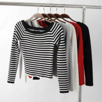Rib Knit Long Sleeve Shirt B0014626