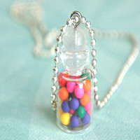 gumballs in a jar necklace