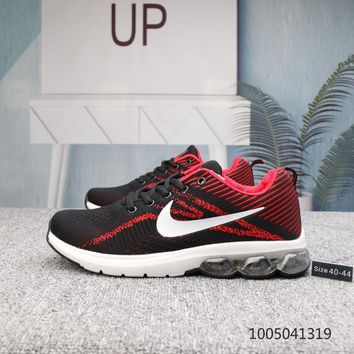 DCCK N526 Nike Air Zoom Structure 20 Mesh Cushion Running Shoes Black Red