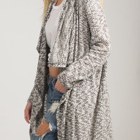 Draped Open Long Cardigan - Medium
