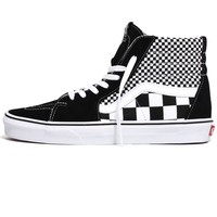 Sk8-Hi Mix Checker Sneakers Black / True White
