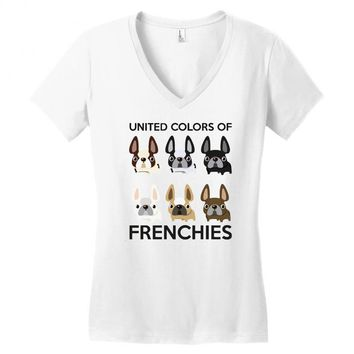 united color of frenchies Women's V-Neck T-Shirt
