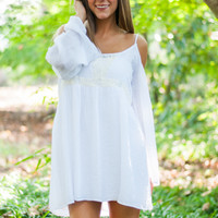 Perfectly Peasant Dress, White