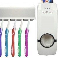 Automatic Touch Toothpaste Dispenser Brush Holder Set