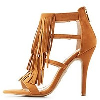 CAGED FRINGED DRESS SANDALS