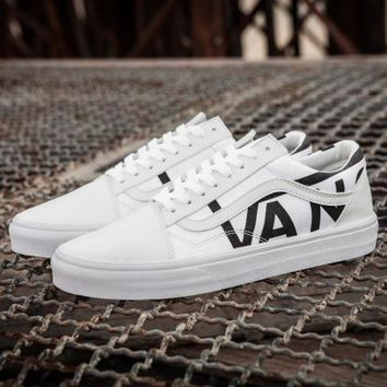 Vans Fashion Old Skool Leather Sneakers Sport Shoes
