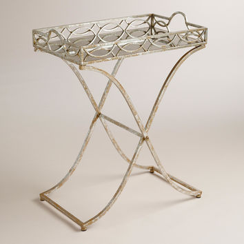 Silver and Gold Soiree Butler Tray Metal - World Market