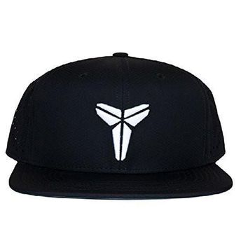 nike kobe pro perf adjustable snapback hat one size fits most black white  number 1
