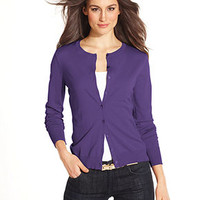 August Silk Sweater, Long-Sleeve Silk-Blend Cardigan - Women - Macy's