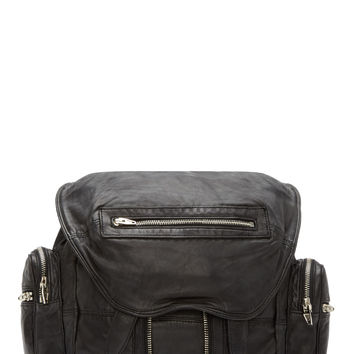 Alexander Wang Black Washed Leather Marti Backpack