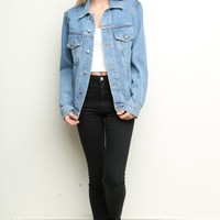 AMARA BOYFRIEND FIT DENIM JACKET
