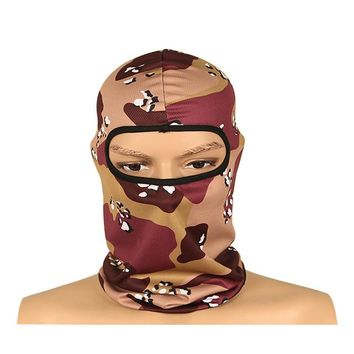Face Mask Bicycle Headgear Camouflage Caps Men Outdoor Sports Half Face Mask Skull Headgear Cycling Full Face Mask MZ-06