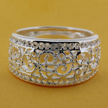 Size:6,7,8,9 Silver plated ring,  silver fashion jewelry ring fashion ring /bikajzrasr-0411