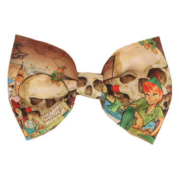 Disney Peter Pan Skull Rock Hair Bow