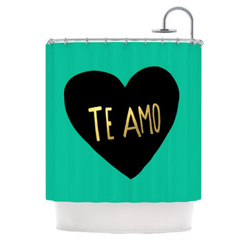 "Leah Flores ""I Love You in Espanol"" Te Amo Shower Curtain"