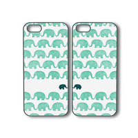 Elephant cases in pair- iPhone 4 case, iphone 5 case, ipod 5 case, ipod 4 case, samsung galaxy S3, galaxy S4 case,  galaxy note 2