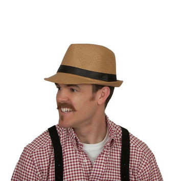Men's Fedora Dark Khaki Hat