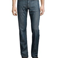 Bowery Slim-Fit Denim Jeans, Indigo, Size: