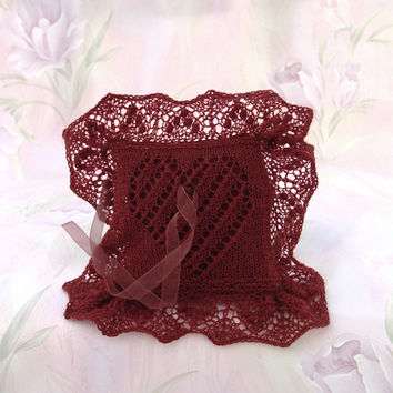 wedding ring lace free knitting pattern