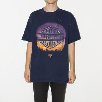 Distressed Harley-Davidson Motorcycles Tee