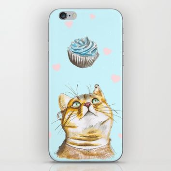 Cat Lover Cake iPhone & iPod Skin by lostanaw