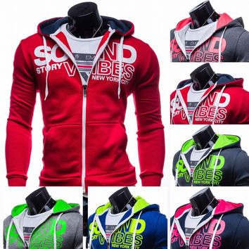 Hats Hoodies Print Casual Men Jacket [6528647811]
