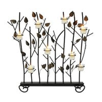 ACHLA Designs SSB-02 Wrought Iron Summer Screen with Votive Rings
