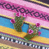Sweet Cactus & Blossom Earrings