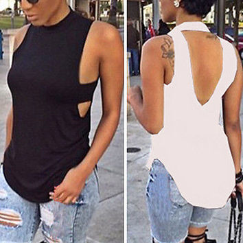 Hot Sexy Womens Fashion Summer Vest Top Sleeveless Blouse Casual Tank Tops Shirt