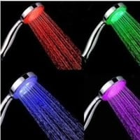 Leegoal 7 Color LED Lights Shower Head Bathroom Showerheads (7 Color LED Lights)