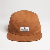Brushed Chino Camp Cap - Aztec Brown