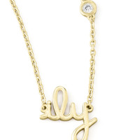 Blessed Pendant Bezel Diamond Necklace - SHY by Sydney Evan - Gold