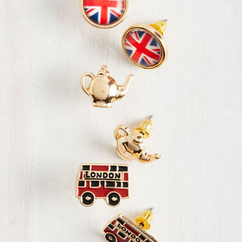 Here to Cheerio You Up Earring Set | Mod Retro Vintage Earrings | ModCloth.com