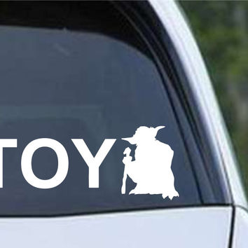Star Wars - Toy Yoda Toyota Funny Die Cut Vinyl Decal Sticker