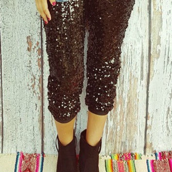 All That Glitters Sequin Jogger Pants
