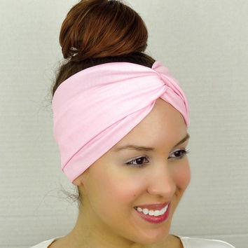 Twist Headband Women's Accessories Pink Turban Headband Pink Turban Head Wrap Women Turban Wide Headband Pink Stretch Headband Yoga Headband