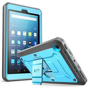 All New Fire 7 Case, SUPCASE Unicorn Beetle PRO Series [Heavy Duty] Full-body Rugged Protective Case Cover with Built-in Screen Protector for Amazon Fire 7 (7th Generation) 2017 Release (Blue/Black)