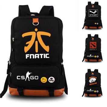 Dead by Daylight STEAM Game school bag Team Fnatic DOTA 2 CS CSGO backpack student school bag Notebook backpack Daily backpack