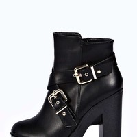 Gina Buckle Strap Extreme Cleated Boots
