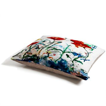 Ginette Fine Art Poppies In Light Pet Bed