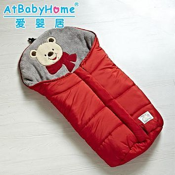 winter warm children multi-purpose sleeping bag baby strollers sleep sleeping bag envelope foot muff winter warm